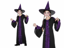 Bewitched Costume Girls Witches Halloween Fancy Dress Costume S-L
