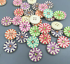 FREE DIY 4 hole Round Wood Buttons Fit Sewing scrapbook Decorative craft 20mm