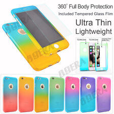 Armor 360° Full Body Hybrid Back Case Cover Tempered Glass For iPhone & Samsung