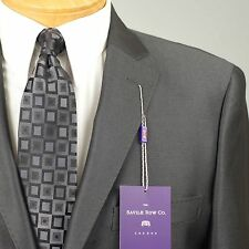 42S SAVILE ROW Charcoal Grey SUIT SEPARATE  42 Short Mens Suits - SS25