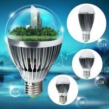 2016  E27 9W 15W 21W 36W LED Light Ultra Bright Silver Globe Bulb Lamp home