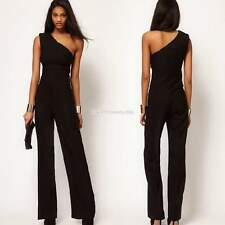Asymmetric One Shoulder Wide Leg Jumpsuit Women's Palazzo Pants Overalls Catsuit