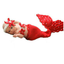 Baby Girls' Boys' Photo Prop Outfits Knit Crochet Mermaid Bunny Clothes Newborn