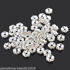 Wholesale HX Silver Plated Rondelle Spacer Beads 6mm