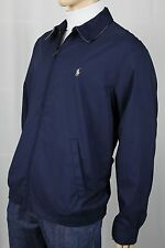 Polo Ralph Lauren Navy Blue Jacket Coat Tan Pony NWT $145