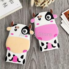 Cute Cartoon Dairy Cow Soft Silicone Cover Case For Apple iPhone 6/6S 6Plus New