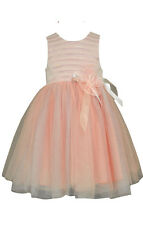 Bonnie Jean Girls Easter Spring Summer Sequin to Tulle Dress 4 5 6 6X New