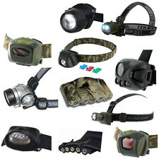 Highlander LED Head Torch, Lamp - 10 choices, 1 to 10 LEDs, red, white