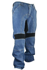 Xelement Classic Fit Blue Denim Motorcycle Racing Pant Removeable Padding 055025