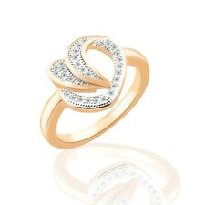 Wedding rings 18K gold filled Swarovski crystal fashion hot rings Sz6-Sz9