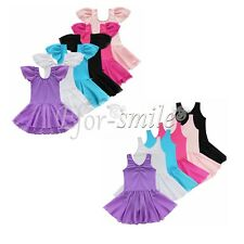 Girls Toddler Kid Gymnastics Ballet Dress Leotard Tutu Skirt Dancewear Costume