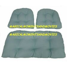 REPLACEMENT CUSHIONS FOR INDOOR/OUTDOOR WICKER FURNITURE (SOLID COLORS) 3 PIECES
