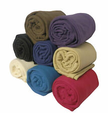 LARGE Fleece Sofa / Bed Throw or Blanket in 9 Colours & 3 Large Sizes
