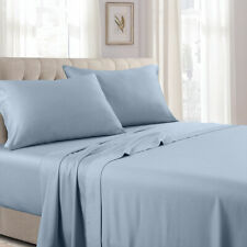 300 Thread Count Solid Sheet Set Combed Cotton Bed Sheet set- Deep Pocket