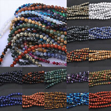 Lots 5-40Pcs Natural Gemstone Round Loose Spacer Beads 4MM 6MM 8MM 10MM 12MM DIY