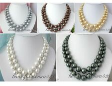 X0170 2row 16mm south sea shell pearl tower necklace
