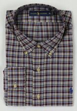 Ralph Lauren Burgundy Tan Blue Green Plaid Classic Dress Shirt NWT