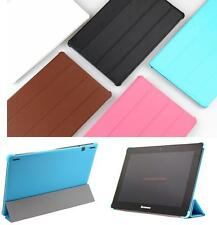 Slim Folding Stand PU Leather+Plastic Shell Case For Lenovo ideapad S6000-F/H/G