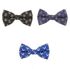 Choose Military Service Branch Woven Polyester Repeat Bow Tie by Eagles Wings