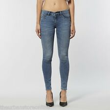Lee Women's Licks (No Zips) Skinny Stretch Denim Jeans Pitch Blue 40% Off