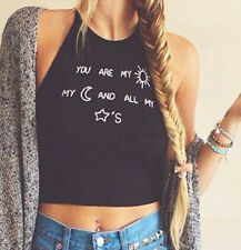 Hot Lady Sleeveless Crop Tops Vest Backless Halter Tank Tops Blouse T-Shirt New