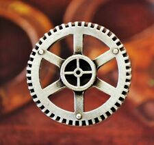 2 Steampunk Gear Pewter Shank Buttons 1 1/4 Inch (32 mm) #1068