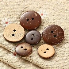 100Pcs 15/200mm Coconut Shell Buttons 2 Holes Sewing Scrapbooking Wholesale