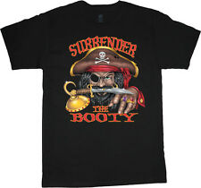 Surrender the booty funny pirate t-shirt funny men's t-shirt tee
