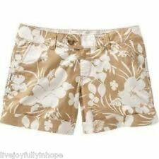 OLD NAVY ~ NWT NEW ~ Low Rise TROPICAL Cotton HIBISCUS Cuffed Shorts 2 4 6 8 10