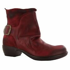 Fly London Mel Red Leather Womens Boots