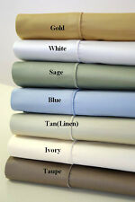 1500 Thread Count Solid Sheet Set Collection 100% Combed Cotton Deep Pocket