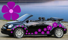 32 PURPLE & BABY PINK PANSY FLOWERS CAR DECALS,STICKERS,GRAPHICS,DAISY STICKERS