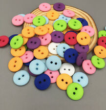 50/100 Mixed color Resin Buttons sewing scrapbooking craft 2-Holes Round 15mm