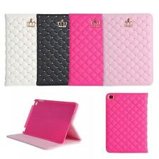 Luxury Crown Bling Leather Stand Case Cover For Apple iPad Mini/2/3/4/5th/Air 2
