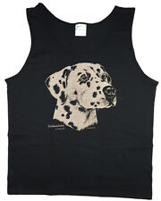 Men's tank top Dalmatian dog breed sleeveless tee black t-shirt