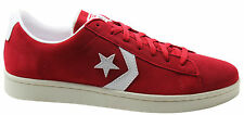 Converse Pro Leather Ox Varsity Low Top Mens Trainers Red Suede 135311C D109