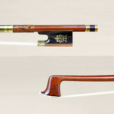Snakeskin grip Violin Bow pernambuco Silver Mounted OX Horn Frog 4/4 3/4 1/2