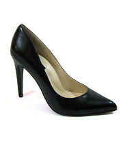 "Highest Heel Womens 4"" Plain Pump Black Kid Patent PU Shoes"