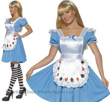 8-18 Sexy Alice In Wonderland Costume Ladies Fairy Tale Book Fancy Dress Outfit
