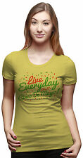 Womens Live Everyday Like Cinco De Mayo Funny Mexican Holiday T shirt (Yellow) -