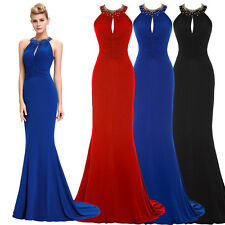 Formal Long Backless Prom Ballgown Evening Party Bridesmaid Wedding Maxi Dresses
