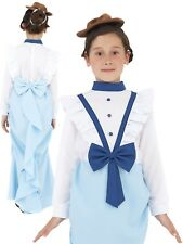 Victorian Posh Girl Costume Childrens Book Week Fancy Dress Outfit + Hat