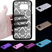 Carved Damask Pattern Plastic Hard Case Cover For Samsung Galaxy S7/S7 Edge Case