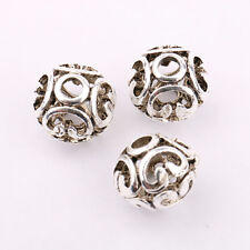 Hollow 10/20X Tibetan Silver Charm Loose Bracelet Finding Spacer Bead 11*10mm