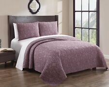 3PC 100% Cotton Giselle Luxury Embroidered Elegant Coverlet Quilt