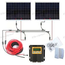 Off Grid Solar System 250W 500W 750W Kit w/ Regulator for Home Power Charge RV