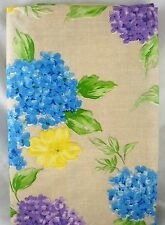 Assorted Sizes Floral Hydrangea Lilacs Umbrella Hole Zippered Vinyl Tablecloth
