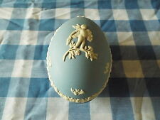 Wedgwood Jasperware Egg Shaped Trinket Box Blue