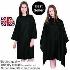 Non Iron Crinkle Effect Hair Salon Hairdressing Cape Gown With or Without Sleeve
