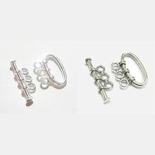 1x Sterling Silver 3 strand Toggle Clasp Heavy